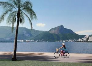 A Ciclista e a Lagoa