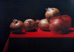 Onions on Red