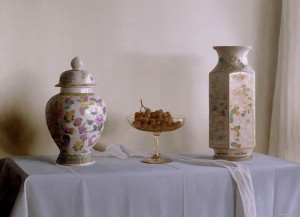 Two Vases with Grapes